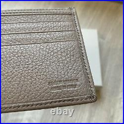 Vivienne Westwood Mens Leather Bifold Wallet Silver Orb Taupe