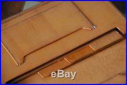 WOW! Peccary Swaine Adeney Brigg Peal Brooks Brothers Tan Leather Travel Wallet